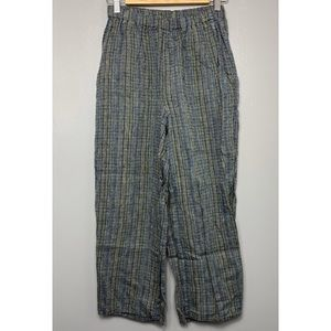 FLAX 100% Linen High Waisted Cropped Pants